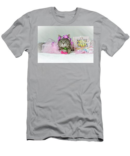 Cat Tea Party Men's T-Shirt (Athletic Fit)