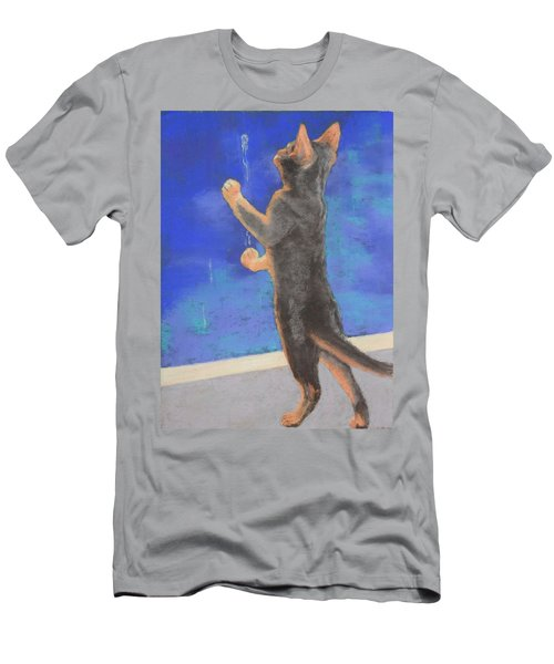 Men's T-Shirt (Slim Fit) featuring the painting Catch The Rain by Nancy Jolley