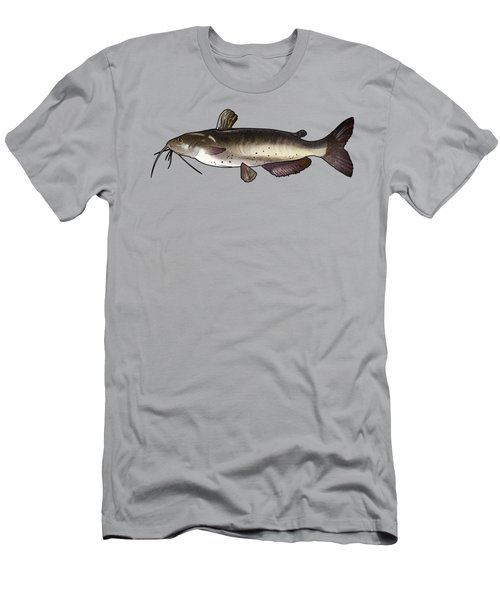 Catfish Drawing Men's T-Shirt (Slim Fit) by A C