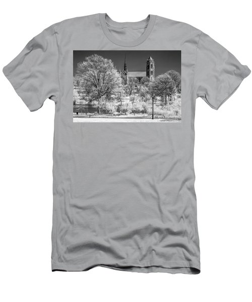 Men's T-Shirt (Slim Fit) featuring the photograph Cathedral Basilica Of The Sacred Heart Ir by Susan Candelario