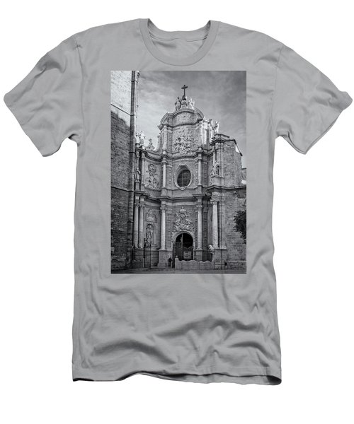 Men's T-Shirt (Slim Fit) featuring the photograph Cathedral Valencia Spain by Joan Carroll
