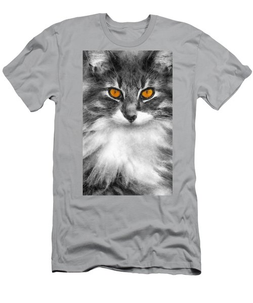 Cats Eyes Men's T-Shirt (Slim Fit) by Ian Mitchell
