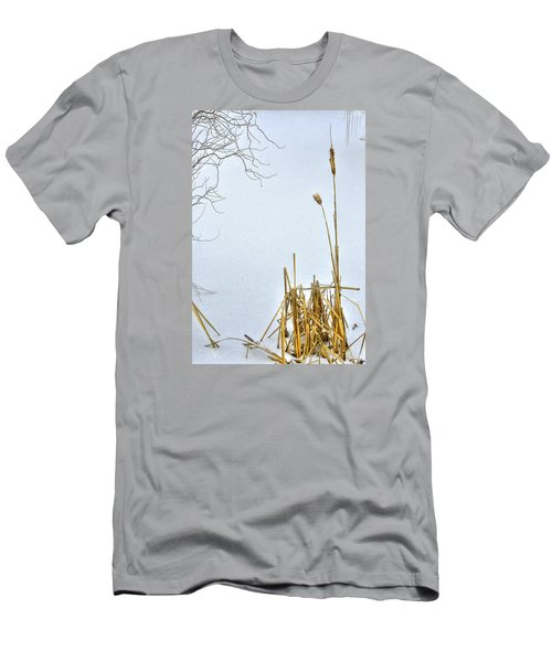 Cattails In Winter Men's T-Shirt (Athletic Fit)