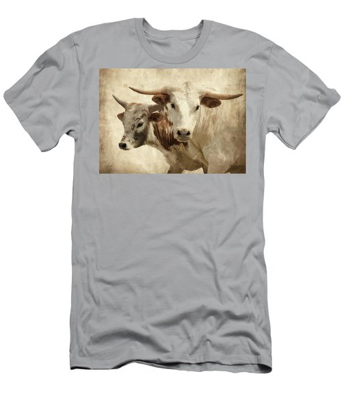 Cattle Steers Men's T-Shirt (Athletic Fit)