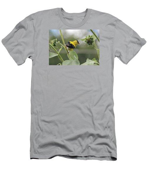 Caution Men's T-Shirt (Slim Fit) by Yumi Johnson