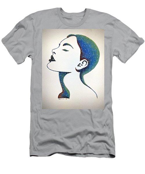 Men's T-Shirt (Slim Fit) featuring the painting Celeste by Edwin Alverio