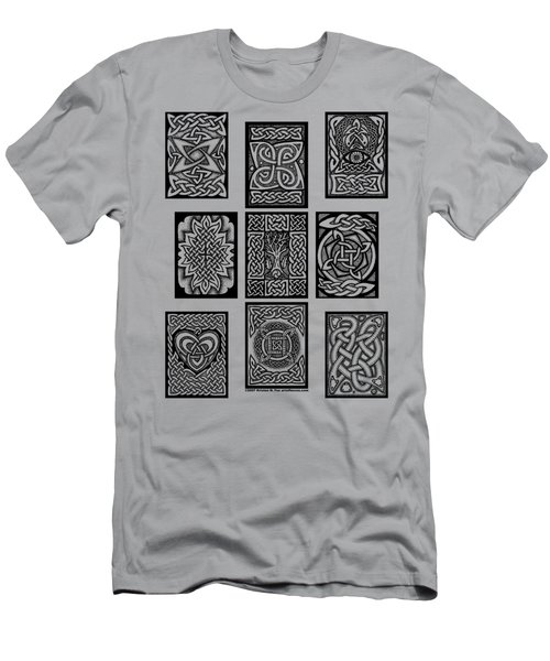 Men's T-Shirt (Slim Fit) featuring the drawing Celtic Tarot Spread by Kristen Fox