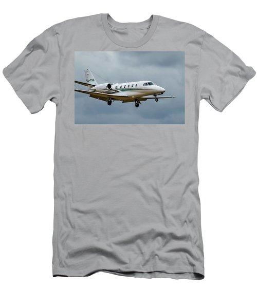 Cessna Citation X Landing Men's T-Shirt (Slim Fit) by James David Phenicie