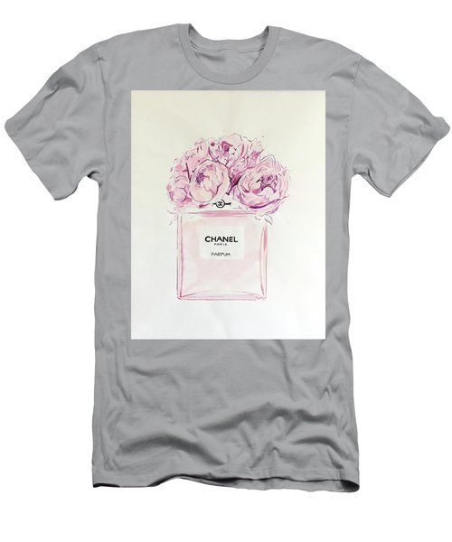 Chanel Peonies Men's T-Shirt (Athletic Fit)