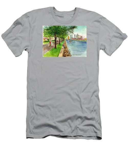 Channel Drive Tampa Florida Men's T-Shirt (Slim Fit) by Frank Hunter