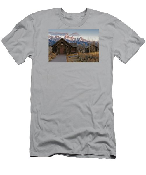 Chapel Of The Transfiguration - II Men's T-Shirt (Slim Fit) by Gary Lengyel