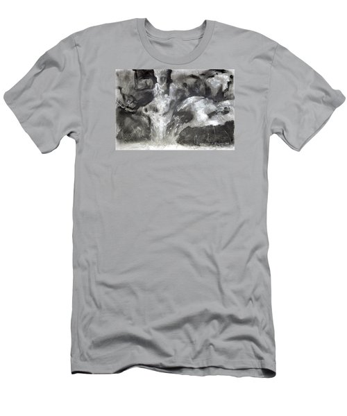 Charcoal Waterfall Men's T-Shirt (Athletic Fit)