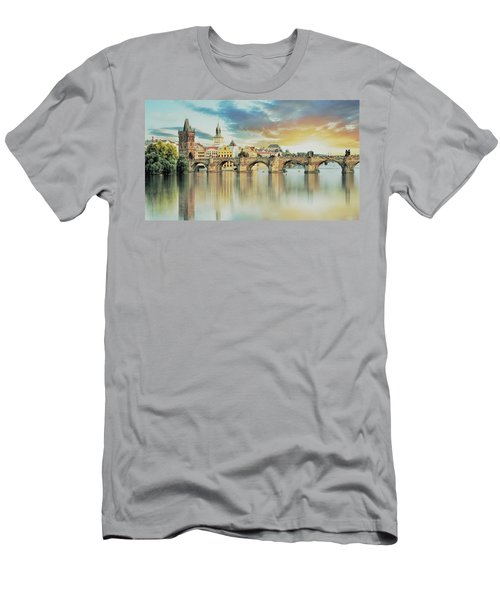 Charles Bridge Men's T-Shirt (Slim Fit) by Maciek Froncisz