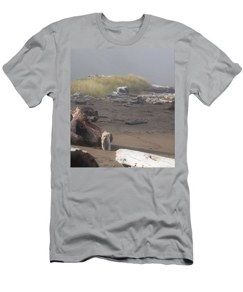 Charlie On Irish Beach Men's T-Shirt (Athletic Fit)