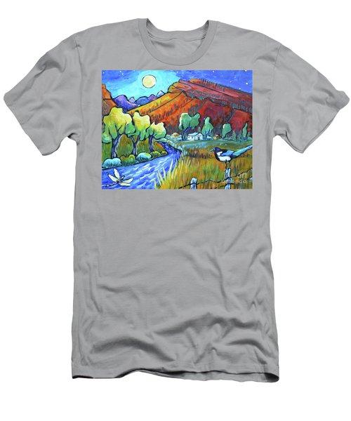 Chasing A Moonbeam Men's T-Shirt (Athletic Fit)