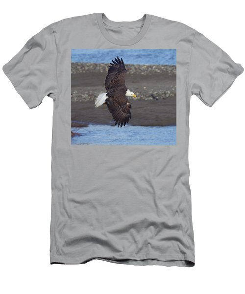 Men's T-Shirt (Slim Fit) featuring the photograph Checking Out The River by Elvira Butler
