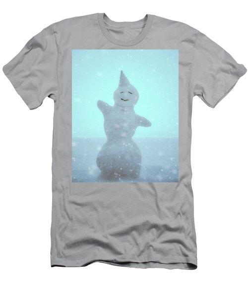 Men's T-Shirt (Slim Fit) featuring the photograph Cheerful Snowman by Ari Salmela