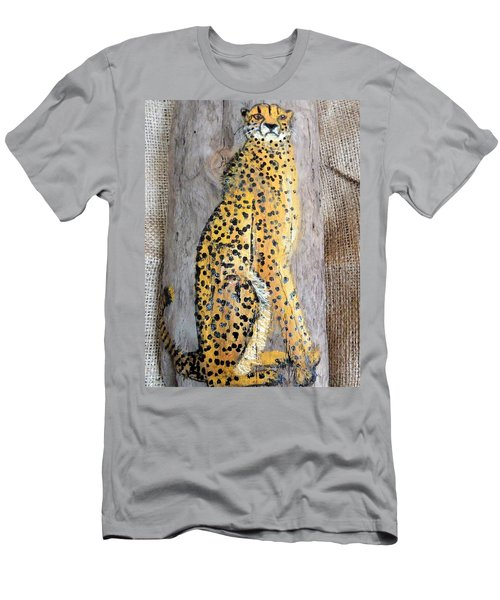 Cheetah Men's T-Shirt (Slim Fit) by Ann Michelle Swadener