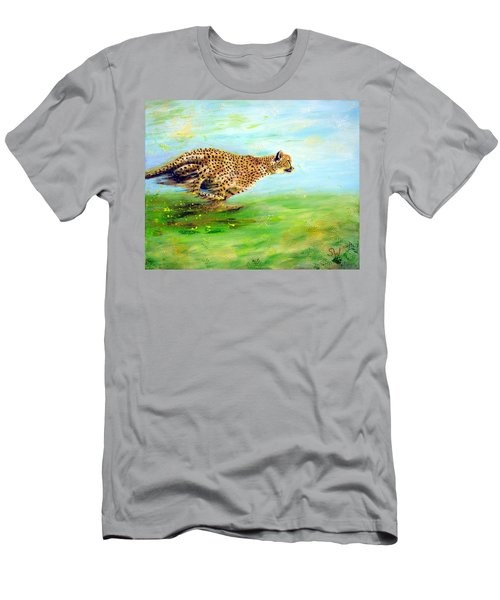 Cheetah At Speed Men's T-Shirt (Athletic Fit)