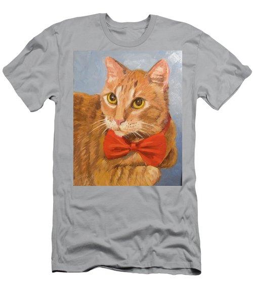 Cheetoh Cat Portrait Men's T-Shirt (Slim Fit) by Alice Leggett