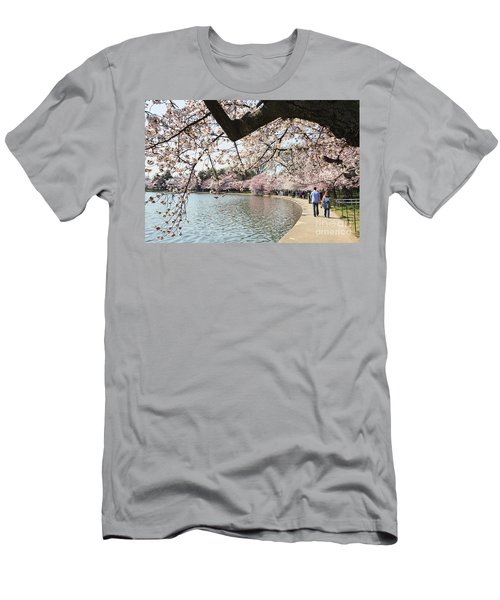 Cherry Blossom Stroll Around The Tidal Basin Men's T-Shirt (Athletic Fit)