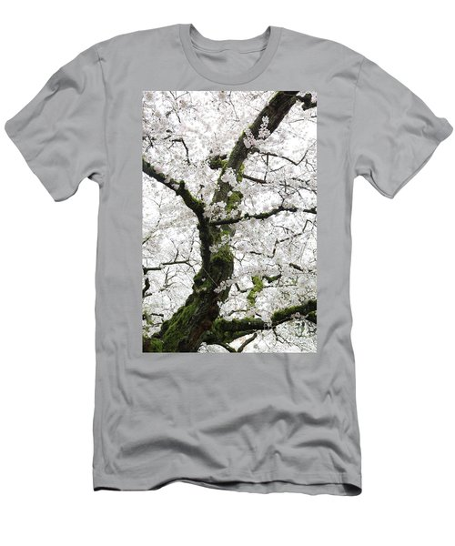 Men's T-Shirt (Athletic Fit) featuring the photograph Cherry Blossoms 119 by Peter Simmons
