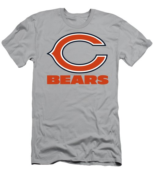 Chicago Bears Translucent Steel Men's T-Shirt (Athletic Fit)