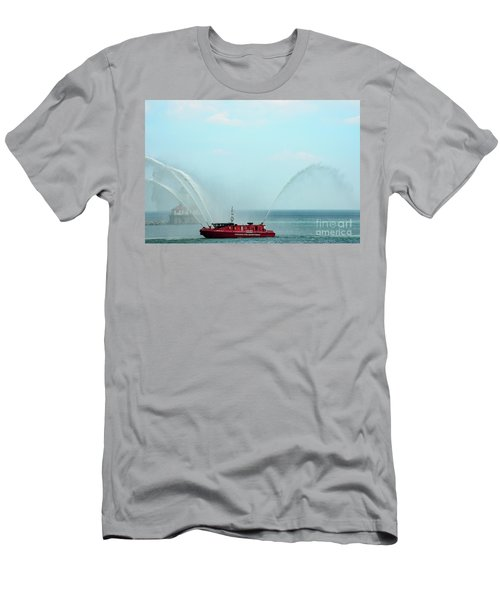 Chicago Fire Department Fireboat Men's T-Shirt (Athletic Fit)