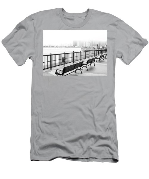 Chicago Navy Pier Men's T-Shirt (Slim Fit) by Dawn Romine