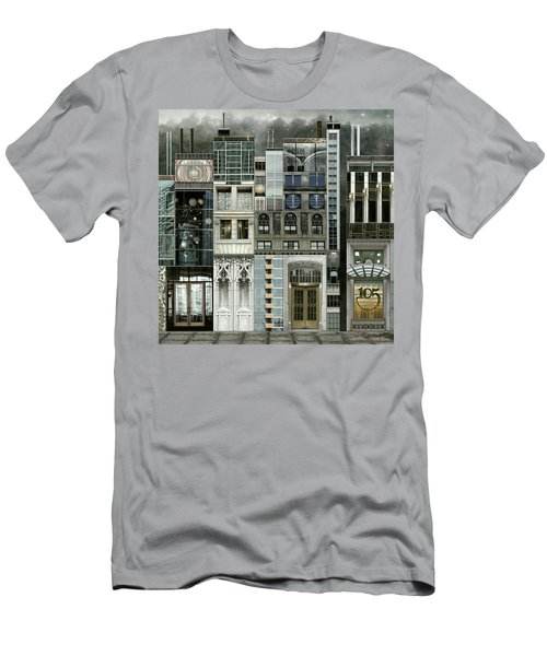 Chicago Reconstruction 1 Men's T-Shirt (Slim Fit) by Joan Ladendorf