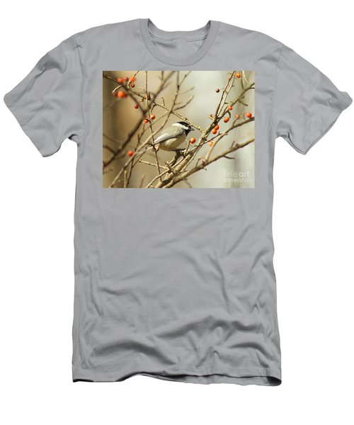 Chickadee 2 Of 2 Men's T-Shirt (Slim Fit) by Robert Frederick