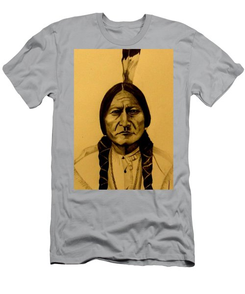 Men's T-Shirt (Athletic Fit) featuring the drawing Chief Sitting Bull  Tatanka Iyotake by Michelle Dallocchio