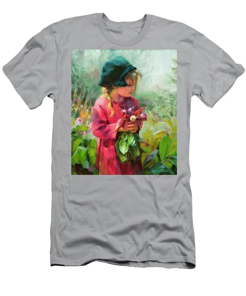 Men's T-Shirt (Athletic Fit) featuring the painting Child Of Eden by Steve Henderson