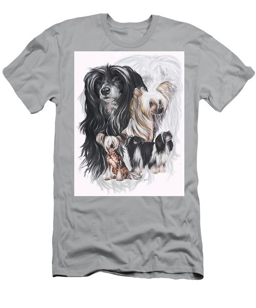 Chinese Crested And Powderpuff Medley Men's T-Shirt (Athletic Fit)