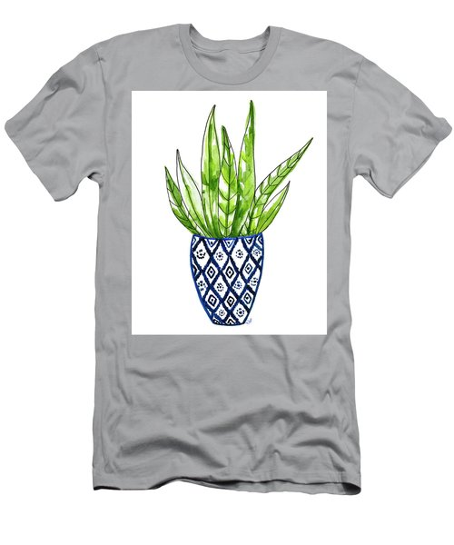 Chinoiserie Cactus No2 Men's T-Shirt (Athletic Fit)