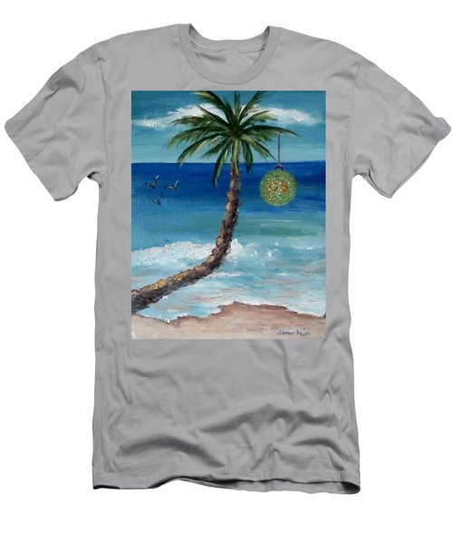 Men's T-Shirt (Slim Fit) featuring the painting Christmas 2008 by Jamie Frier