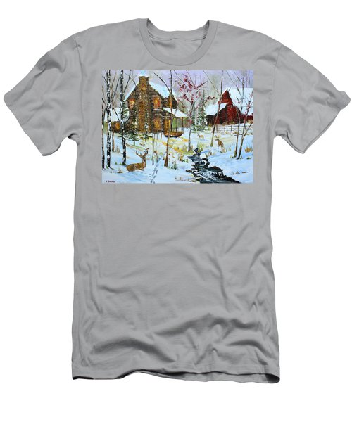 Christmas Cabin Men's T-Shirt (Athletic Fit)