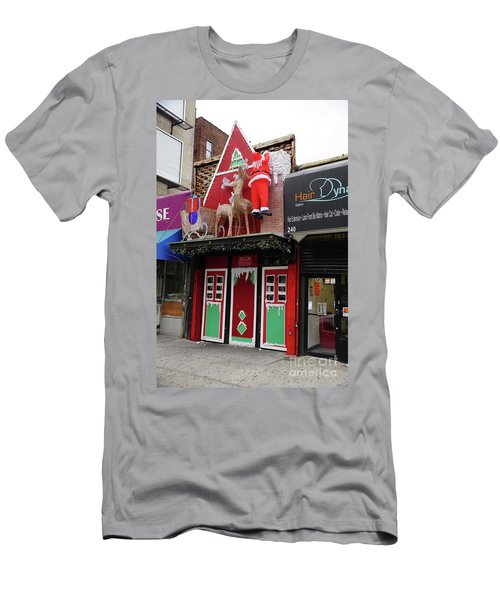 Christmas On Sherman Avenue  Men's T-Shirt (Athletic Fit)
