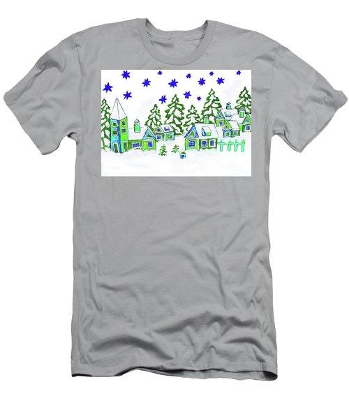 Christmas Picture, Painting Men's T-Shirt (Slim Fit) by Irina Afonskaya