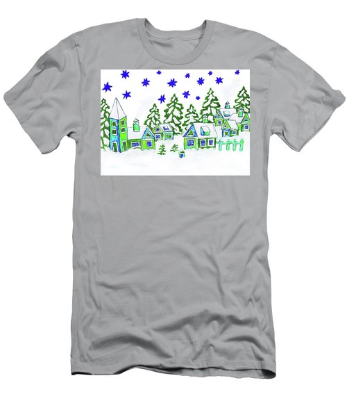 Christmas Picture, Painting Men's T-Shirt (Athletic Fit)