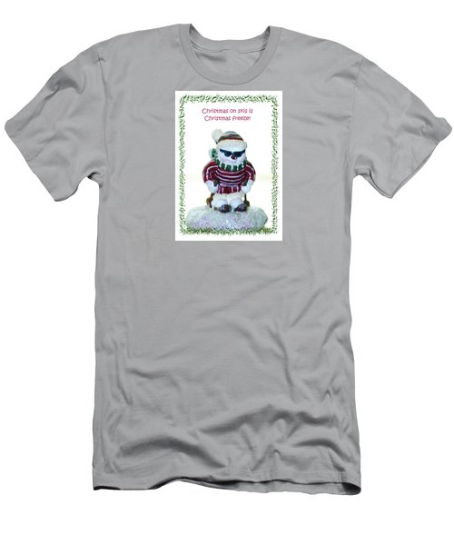 Christmas Skier Men's T-Shirt (Athletic Fit)