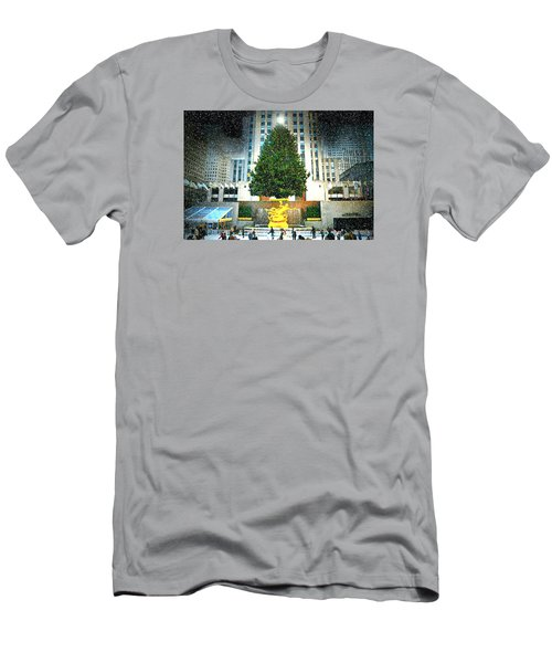 Christmas Tree 2015 Men's T-Shirt (Slim Fit) by Diana Angstadt