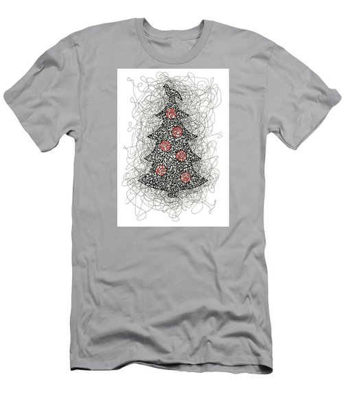 Christmas Tree Pen And Ink Drawing Men's T-Shirt (Athletic Fit)