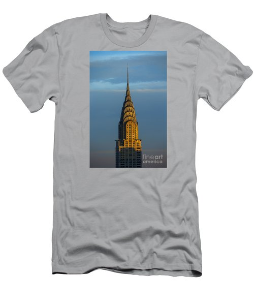 Chrysler Building In The Evening Light Men's T-Shirt (Slim Fit) by Diane Diederich