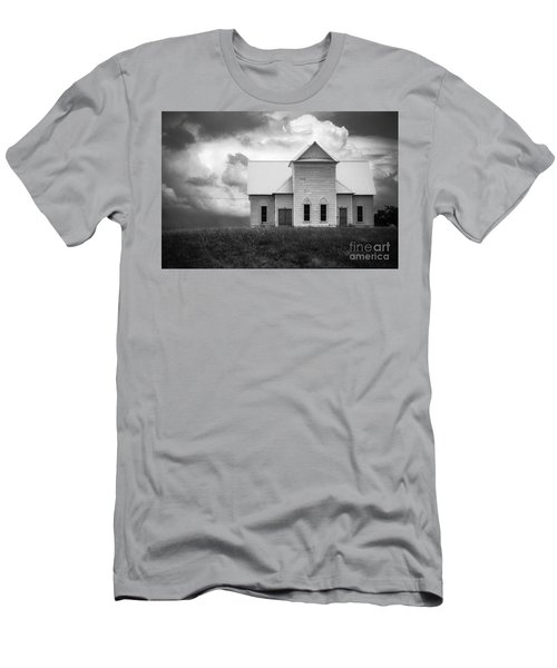 Church On Hill In Bw Men's T-Shirt (Athletic Fit)