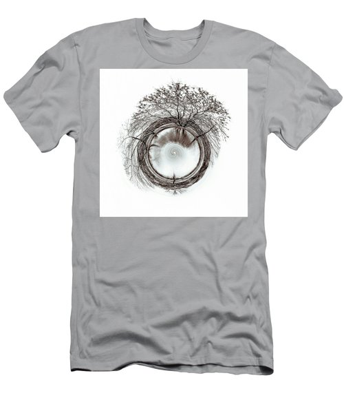 Men's T-Shirt (Slim Fit) featuring the photograph Circle Of Trees by Wade Brooks