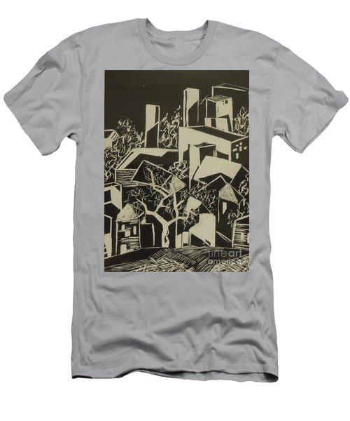 City By Moonlight - Sold Men's T-Shirt (Slim Fit) by Judith Espinoza