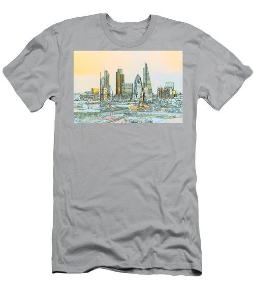 City Of London Outline Poster  Men's T-Shirt (Athletic Fit)