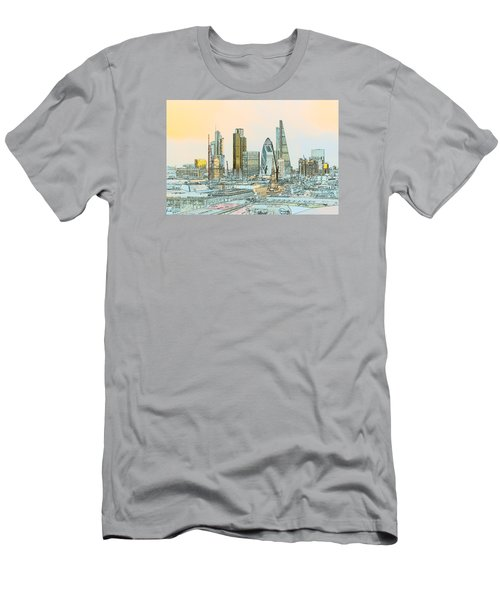City Of London Outline Poster  Men's T-Shirt (Athletic Fit)
