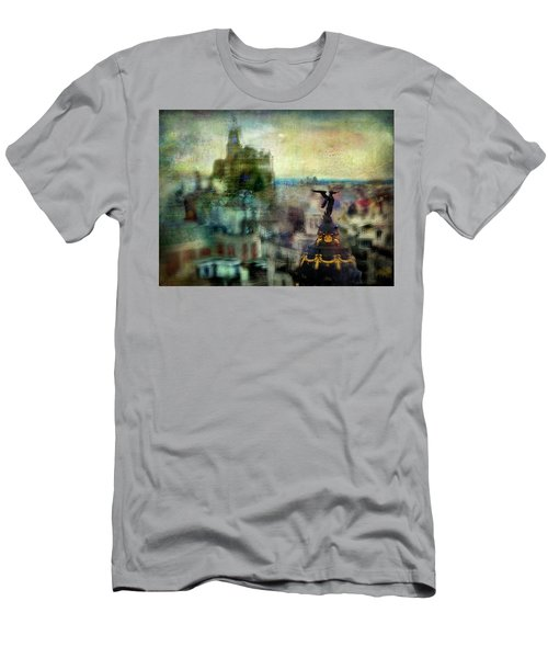 Cityscape 38 - Homeless Angels Men's T-Shirt (Slim Fit) by Alfredo Gonzalez